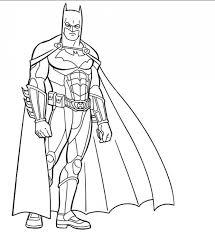 Batman The Dark Knight Free Printable Coloring Sheet