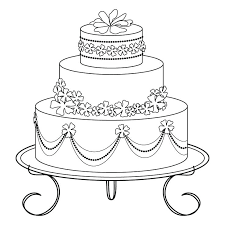 pin drawn wedding cake black and white 2 birthday delivery online pencil in color 3