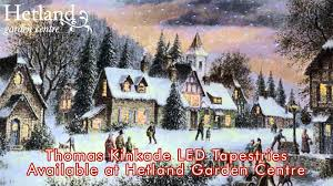 Thomas Kinkade Christmas Tree Village by Thomas Kinkade Led Tapestries At Hetland Garden Centre Dumfries