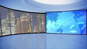 News TV Studio Set 146 Virtual Green Screen Background Loop