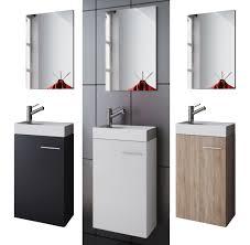 waschplatz waschbecken schrank spiegel wc gäste toilette badmöbel klein