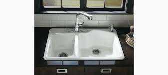 Kohler Sink Rack Biscuit by Wheatland Top Mount Kitchen Sink With Four Faucet Holes K 5870 4