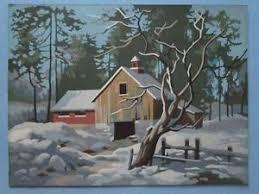 Vintage Paint By Number Pair