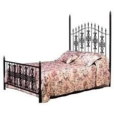 gothic gate wrought iron bed ornate scrolls spear finials dcg