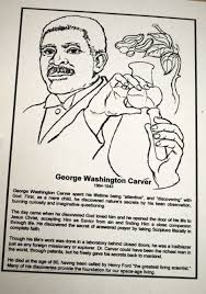 George Washington Carver Coloring Page Download Pages Free Online
