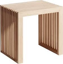 moderner hocker rib aus bambus