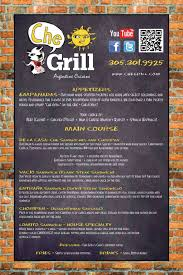 Che Grill Menu, Menu For Che Grill, Coconut Grove, Miami ... Ultimate Guide To Menu Display Options For Food Trucks Truck Private Events Dos Gringos Mexican Kitchen Eugenes Hot Chicken We Are A Southern Style Restaurant Food Toasted At Best Friends El Paso Cgdons After Dark Free Lips Sushi Vector Pictures Chedda Burger Menu Slc 30 Drink Templates Premium Blog Development Cheese Wizards Grilled Ideas Heavys Soul In Tampa Fl