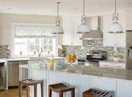 artistic light granite kitchen countertops below glass pedestal