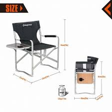 Shop KingCamp Director Chair Folding Aluminum Padding Portable Heavy ... Porta Brace Directors Chair Without Seat Lc30no Bh Photo Tall Camping World Gl Folding Heavy Duty Alinum Heavy Duty Outdoor Folding Chairs 28 Images Lawn Earth Gecko Wtable Snowys Outdoors Natural Gear With Side Table Creative Home Fniture Ideas Glitzhome 33h Outdoor Portable Lca Director Chair Harbour Camping Heavyduty Chairs X2 Easygazebos Duratech Horse Tack Equipoint