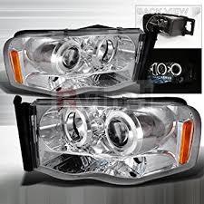 dodge ram 2002 2003 2004 led halo projector headlights