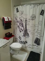 paris themed shower curtain office and bedroom