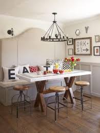 Kitchen Diner Booth Ideas by What A Great Eating Space For A Small House Love The Open