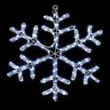 2d Christmas Outdoor Window Silhouette Rope Light Snowflake Lights
