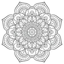 Coloring Pages Adults Printable For Only Free Adult Perfect Mandala Abstract Flowers