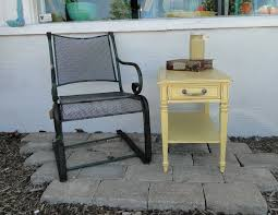 Tiny End Table In BIG Yellow With Old Heavy Metal Chair, Mason Jar ... Clearance Homebase Outdoor Rh Fniture For Sale Patio Prices Brands Review Sturdy Metal Wooden Back Industrial Ding Armchair Shakunt Vintage Crusader School Desk And Chair Gray Small Child Size 1st Grade Home Craft Table Old Panosporch Chairs At Lowescom 12 Best Haing Egg To Buy In 2019 Indoor A Guide Buying Hardscaping 101 How Care Wood Gardenista Ruced 25 Beautiful Old Heavy Metal Park Bench Ends Olive Branch Ppu Folding Bag Cushioned Porch Glidersold Glidersvintage