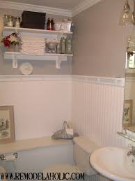 bathroom how to cover bathroom tile with wainscoting