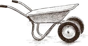 Download Old wheelbarrow stock vector Illustration of sketch