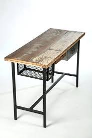 plateau de bureau en bois plateau bureau bois massif bureau style industriel mango dans
