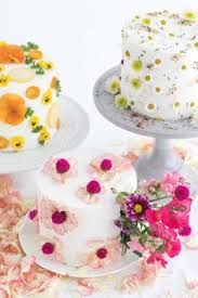 Learn how to make bright spring sponge cakes rainbowed with edible