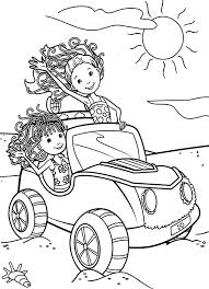 Groovy Girls Ride Car On Beach Coloring Pages Free Printable