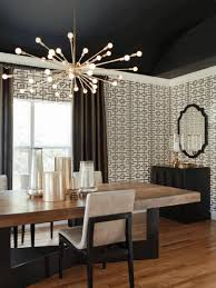 Vibrant Idea Black Dining Room Chandelier Light Fixtures Iron Lights Drum Shade Pretty Kitchen Table Rustic Bowl For