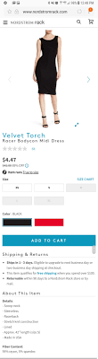 Velvet TorchRacer Bodycon Midi Dress(size S) $4.47 + Shipping @ Nordstrom  Rack The New Nordy Club Rewards Program Nordstrom Rack Terms And Cditions Coupon Code Sep 2018 Perfume Coupons Money Saver Get Arizona Boots For As Low 1599 At Converse Online 2019 Rack App Vera Bradley Free Shipping Postmates Seattle Amazon Codes Discounts Employee Discount Leaflets Food Racks David Baskets Mobile Att Wireless Store
