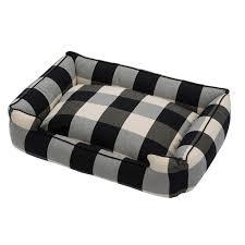 jax and bones buffalo check black premium cotton blend lounge bed