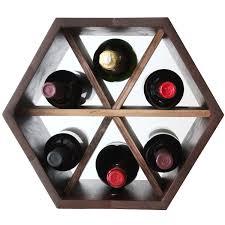 Honey b Modular Wine Rack with Dividers Walnut Wine Enthusiast