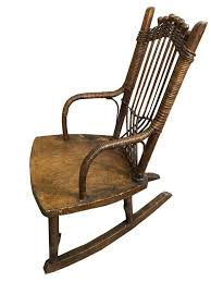 100 Woven Cane Rocking Chairs 19thc Primitive Childs Chair