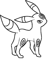 Umbreon Pokemon Coloring Pages