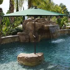 9 Ft Patio Umbrella With Crank by 9 U0027 Ft Steel Outdoor Patio Umbrella Market Yard Beach W Crank Tilt