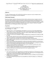 Objectives For Marketing Resume Objective Template Examples In Example Sample