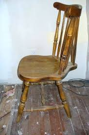 Cosy Antique Kitchen Chair Set Six Windsor Style Pine Dining