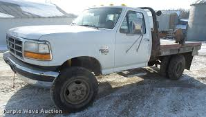 Used Deweze Bale Beds For Sale by 1997 Ford F350 Super Duty Flatbed Pickup Truck Item Db2858