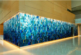Glass Wall Art Classy Custom Curved Healthcare Installation Dma Homes Decorating Inspiration
