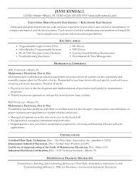 Sample Resume For Maintenance Technician Of Electrical Engineering Template