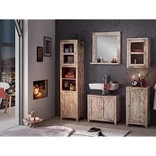 woodkings badmöbel set bitna mango holz massiv bad set rustikal weiß patiniert badezimmerset badschrank geschnitzt design