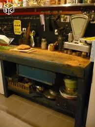 billot cuisine bois etabli billot de cuisine bois et métal ameublement vaucluse