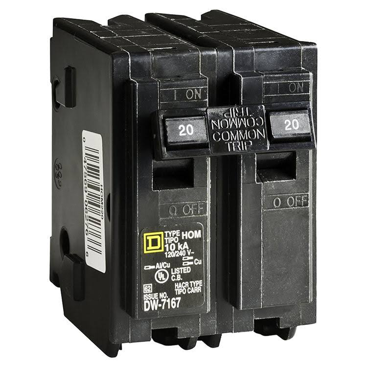 Homeline Double Pole Circuit Breaker - 20amp
