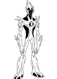Ben 10 Swampfire From Alien Force Coloring Page