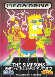 The Simpsons Bart vs the Space Mutants Box Shot for Genesis