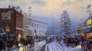 Thomas Kinkade Christmas Tree Village by Thomas Kinkade Wallpapers Awesome Wallpapers
