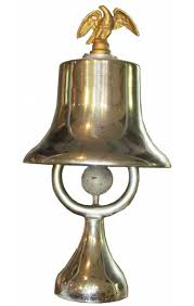 100 Fire Truck Bell With Brass Eagle Finial