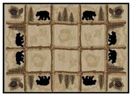 Outstanding Bear Area Rug Toccoa Hearthside Collection Rustic Rugs Inside Ordinary