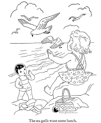 Coloring Pages Printable Beach Pictures Color Page