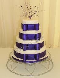 4 Tier Cadbury Purple Wedding Cake