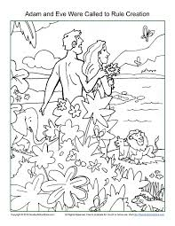 Download Coloring Pages Creation Adam And Eve Were Called To Rule