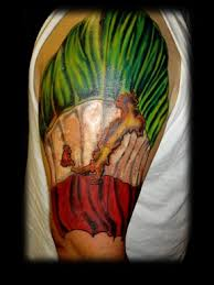 Italian Flag Tattoo By Tatupaul
