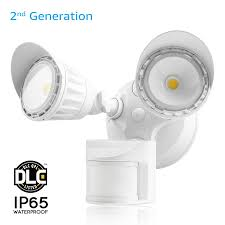 dual motion activated led outdoor security light waterproof