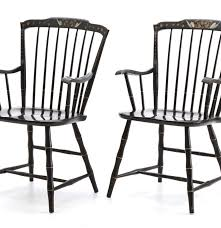 Nichols And Stone Windsor Armchair by Pair Of Nichols U0026 Stone Co Black Windsor Armchairs With Gilding